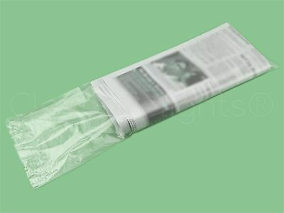 100 Pack - 6x19 Clear Newspaper Bags - 0.8 Mil - Heavy Duty Flat Plastic Bag