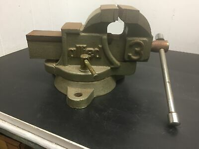 Allied No 3 Bench Vise Industrial Made In Usa 4 Jaws Locking Swivel Base