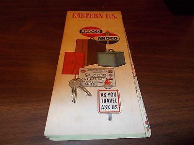 1960 Amoco Eastern US Vintage Road Map