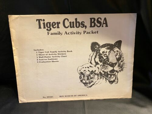 Vtg 1986 Tiger Cubs BSA Family Activity Packet