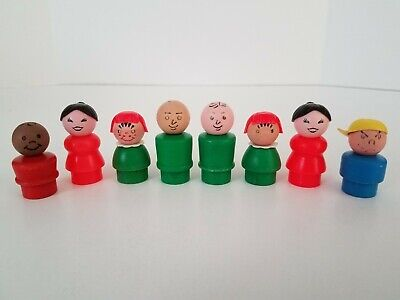 Toy Little People Wooden Vintage Fisher Price Family 2 each Boy Girl Mom Dad