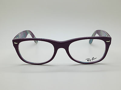 NEW Authentic Ray Ban RB 5184 5408 New Wayfarer Matte Purple 52mm RX Eyeglasses