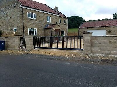 17Ft   Farm Gate, Sliding Cantilever Driveway Gates   MADE IN UK