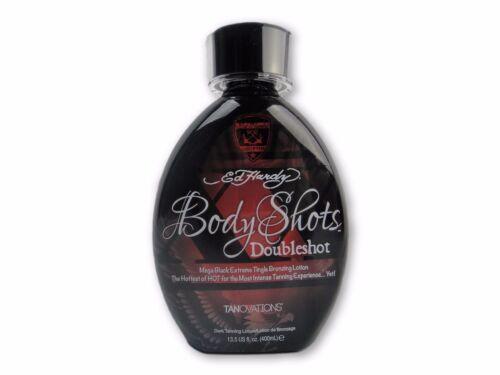 Ed Hardy Body Shots Doubleshot Mega Black Tingle Tanning Bed