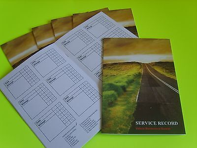Blank Service History Book & Maintenance Record Log, Replacement for Any Car Van