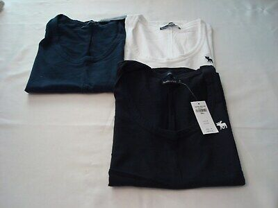 WOMEN ABERCROMBIE AND FITCH SCOOP NECK, SHORT SLEEVE, LOGO T-SHIRT NWT