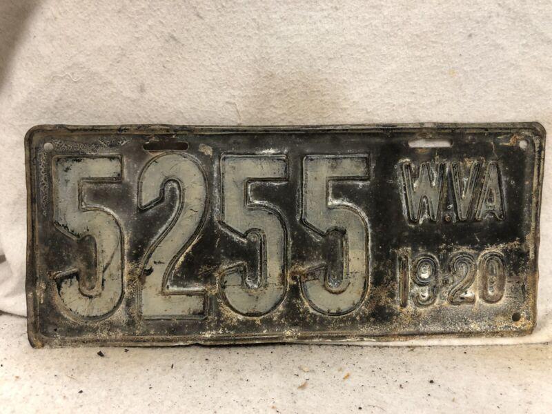 Vintage 1920 West Virginia License Plate