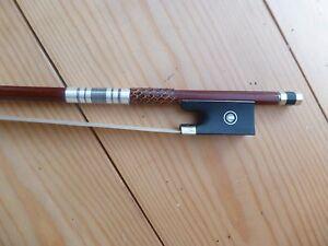 Pernambuco-violin-arco-octagonal-Stick-Fuerte-pero-luz-Ebano-Punta-Violin
