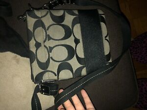 Black Coach Side Purse