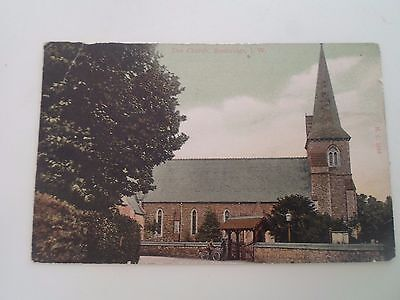 Vintage Postcard THE CHURCH, BEMBRIDGE Isle of Wight Unposted