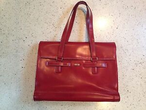 Red (fake) leather stylish laptop bag Ashfield Ashfield Area Preview