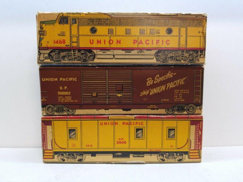 Vintage LOT OF 3 Union Pacific Railroad Car Engine Matchbook Boxes
