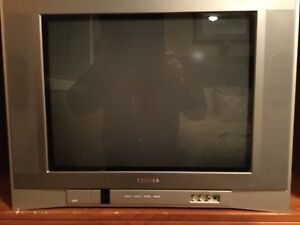 Toshiba colour television, 23 inches, with remote, tube, $40