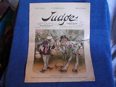 Judge 11-11-1886/Political Humor-Satire Mag/Complete/Zimmerman-Gillam-Hamilton