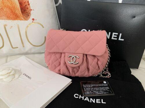 Chanel Chain Around Messenger Crossbody Bag Pink New