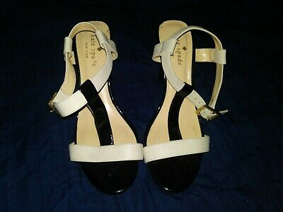 KATE SPADE Womens Pumps Heels T Strap Shoes Size 6 B VERO CUOIO Made Italy EUC
