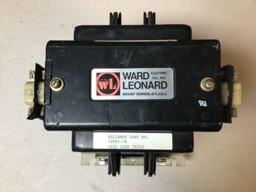 Ward Leonard RDP3-0021-11 Contactor 120 Volt Coil 78092-7R