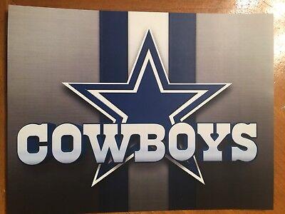 Tin Sign Vintage Dallas Cowboys NFL 2