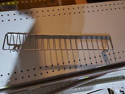 Gondola Shelf Wire Fence 3 H X 13 L - Lozier Madix - Chrome Finish - 25 Pieces