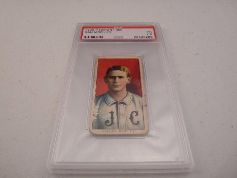 Dan Moeller T206 Piedmont 350 Baseball Card PSA Graded Slabbed FR 1.5