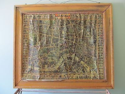 Vintage Map of London Newman Neame Drawn by E.W. Fenton