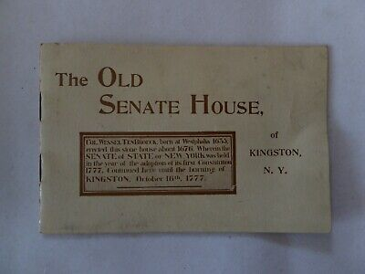"Vintage ""The Old Senate House"" of Kingston, NY Pamphlet"