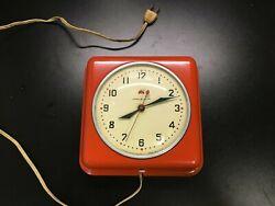 Vintage Antique GE Wall Clock Display Mancave Shop Red Dot