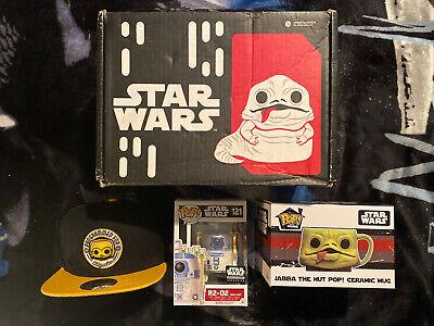 Funko POP Star Wars Smugglers Bounty Box Jabba's Palace- R2D2 Jabba's Skiff
