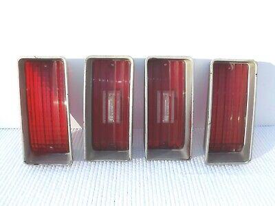 1970 Chevrolet Impala taillight lens lot of four OEM tail lamp & reverse lenses