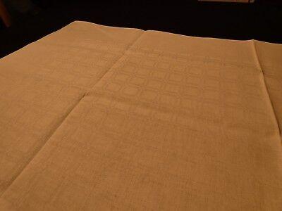 91  Z / Rein-Leinen-Tischdecke von Hand gewebt mit feinem Fächermuster