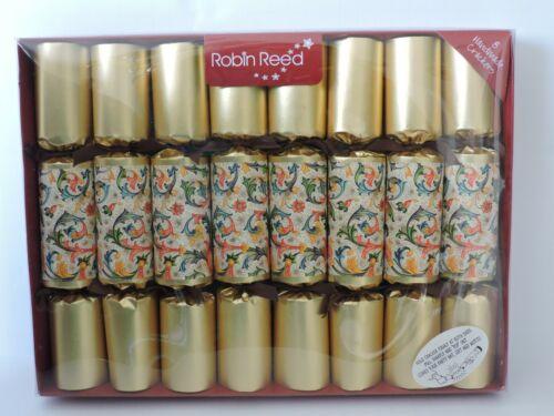 Robin Reed Set 8 Handmade English Florentine Christmas Party Crackers NEW