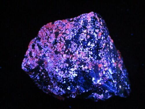 Large Fluorescent  Sphalerite, Franklin, NJ #23 - Pink, Blue & Orange LW