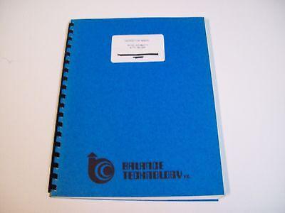 Balance Technology Vr100 Automatic W Welder Instruction Manual - Free Shipping
