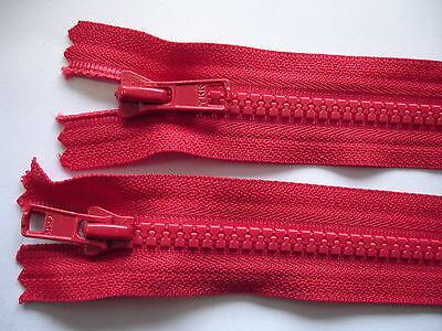 1 Reißverschluß YKK rot  65cm lang, 2-Wege-RV,nicht teilbar Y43