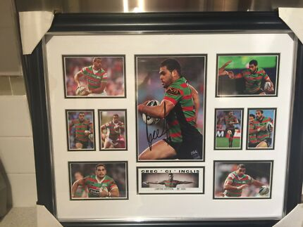 Greg Inglis NRL South Sydney Rabbitohs signed & framed