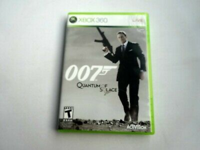 Xbox 360 James Bond 007 Quantum of Solace w/ Case Insert Manual Tested Working