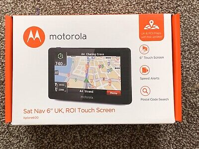 "Motorola 6"" Touchscreen Sat Nav"