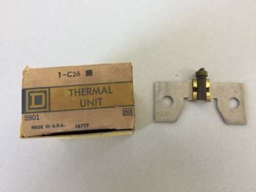 SQUARE D C-26 THERMAL UNIT OVERLOAD RELAY