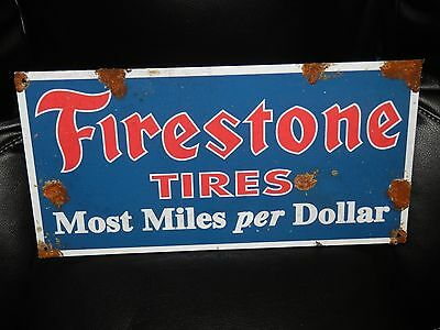 Antique Style Vintage Look Firestone Tires Dealer Sales And Service Sign Nice