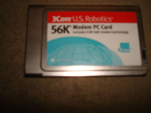 3 COM U.S. ROBOTICS 56K MODEM PC CARDS lot of 10