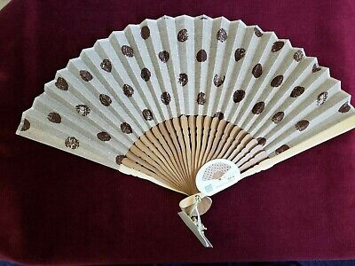 Elegant & Delicate JAPANESE Hand Held Fan - Top Quality Fabric &...