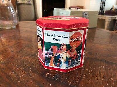 """Vintage 4"""" Coca-Cola Tin - Good Condition"""