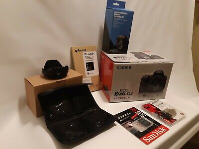 Canon EOS Rebel SL2 with EF-S 18-55mm Lens WITH ITEM BUNDLE INCL 128GB SD CARD