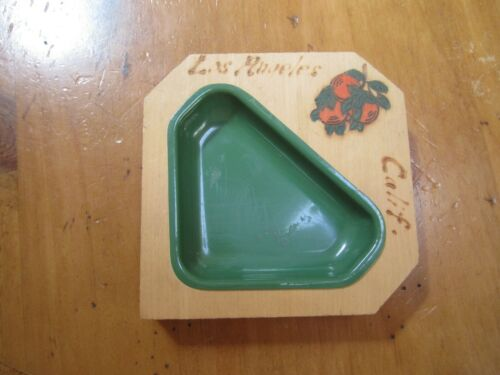 Vintage LOS ANGELES California 1940 ash tray/trinket dish  oranges olvera street