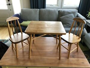 Antique Children's Table and Chairs