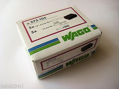 50 WAGO Klemmen  Dosenklemme 5 x 1,0 - 2,5   / 273-105 NEU