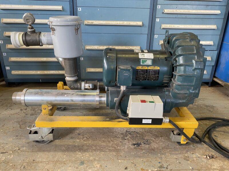 Gast Regenerative Blower R7100A-3 with Baldor Motor Muffler &  Filter