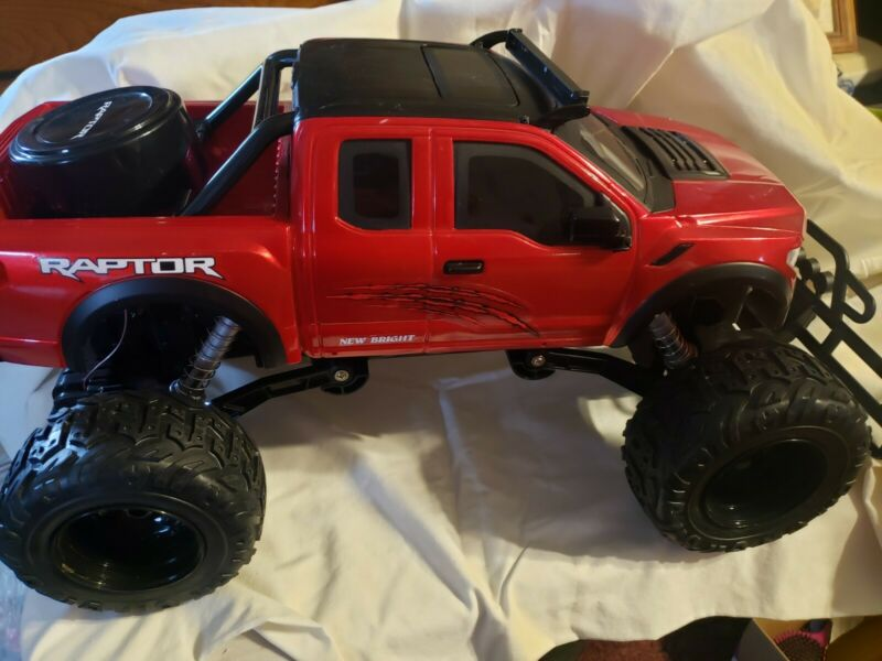 New Bright Red Ford Raptor RC 1:8 Scale