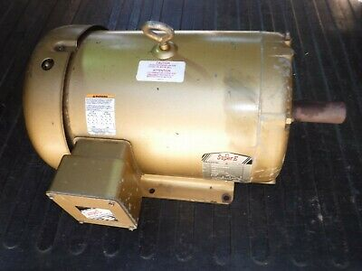 Baldor 10 Hp Electric Ac Motor 208-230460 Vac 3490 Rpm 215t Frame 3 Phase