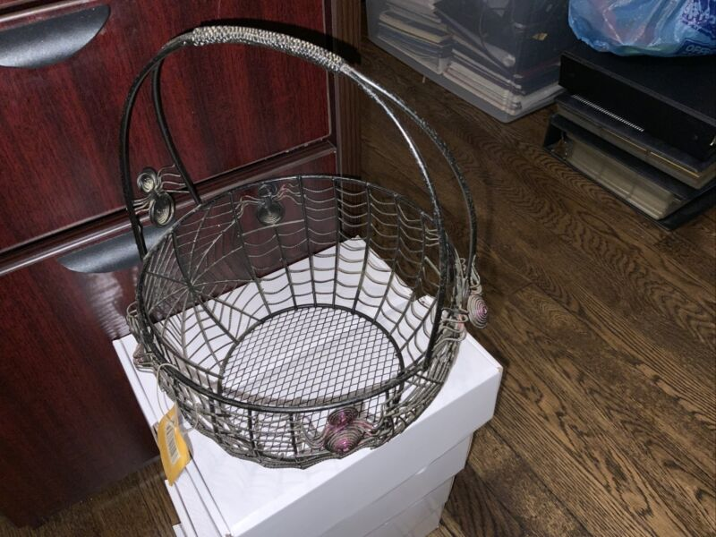 Spider Leg Basket Spooky Halloween Decor Basket Candy Holder